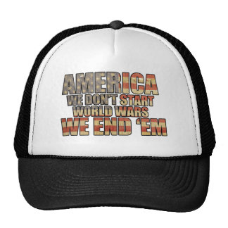 America - We End World Wars Mesh Hats