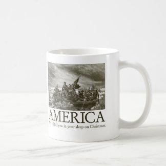 America: We will kill you in your sleep on Christm Coffee Mug