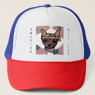 AMERICA WILL LEAD TRUCKER HAT