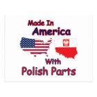 America With Polish Parts Postcard