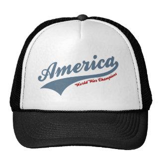 America world war champions cap