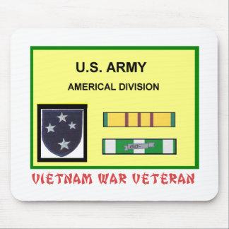 AMERICAL DIVISION VIETNAM WAR VET MOUSE PAD