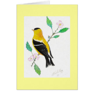 americam goldfinch card