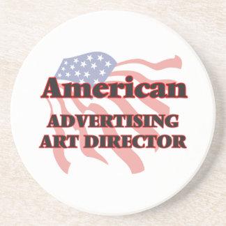 American Advertising Art Director Beverage Coaster