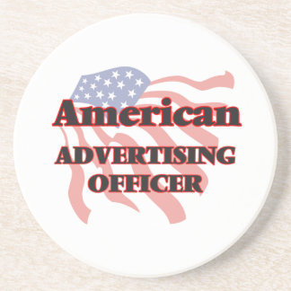 American Advertising Officer Drink Coasters