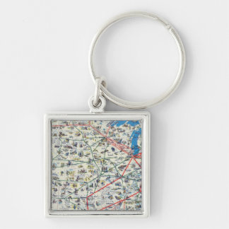 American Airlines system map Keychain
