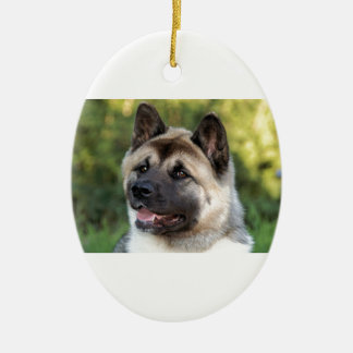 American Akita Dog Ceramic Ornament