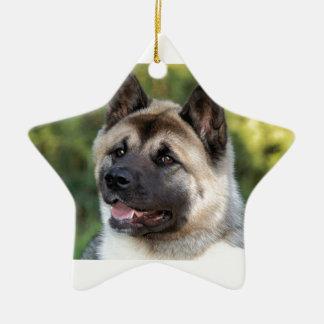 American Akita Dog Ceramic Star Decoration