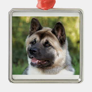 American Akita Dog Metal Ornament
