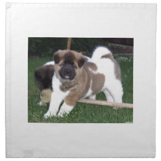 American Akita Puppy Dog Napkin