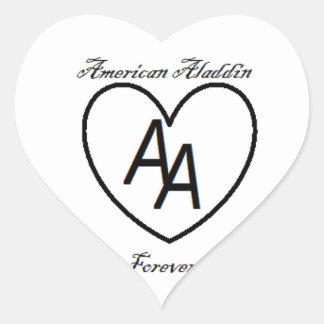 American Aladdin 4 Ever Heart Sticker