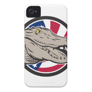 American Alligator USA Flag Icon iPhone 4 Case