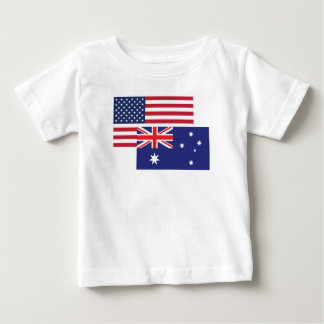 American And Australian Flag Baby T-Shirt