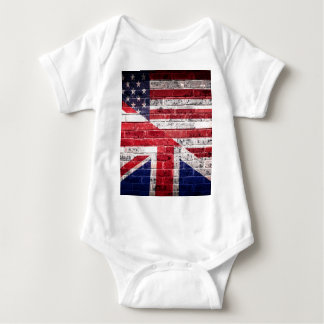 American and British flag. Baby Bodysuit