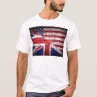 American and British flag. T-Shirt