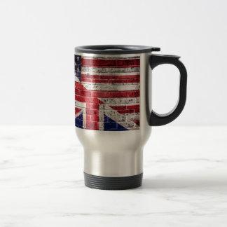 American and British flag. Travel Mug