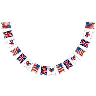 American and British flags, Royal Wedding Bunting