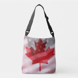 American and Canadian flags Crossbody Bag