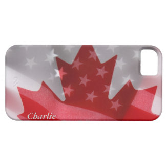 American and Canadian flags iPhone 5 case
