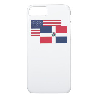 American And Dominican Flag iPhone 7 Case