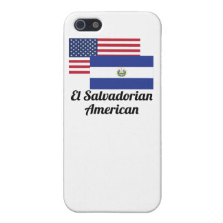 American And El Salvadorian Flag Cover For iPhone 5/5S