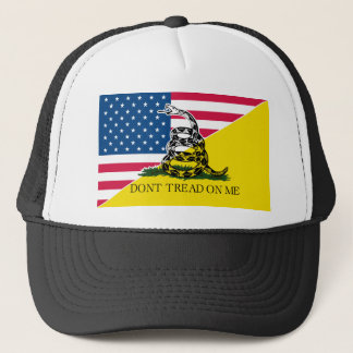 American and Gadsden Flag Trucker Hat