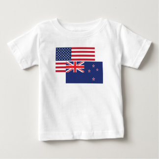 American And New Zealand Flag Baby T-Shirt