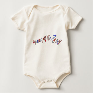 American and Proud Baby Bodysuit