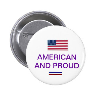 AMERICAN AND PROUD PINBACK BUTTON