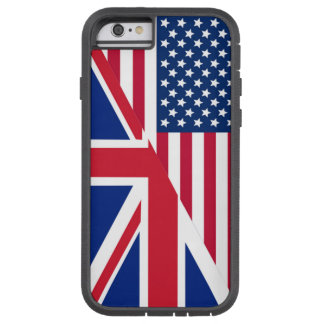 American and Union Jack Flag Apple iPhone 6 Case