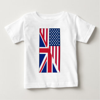 American and Union Jack Flag Baby T-Shirt