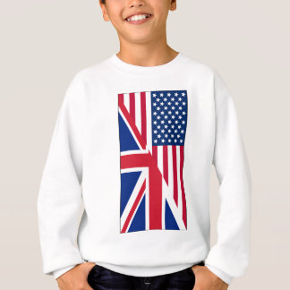 American and Union Jack Flag Kids Hanes Sweatshirt