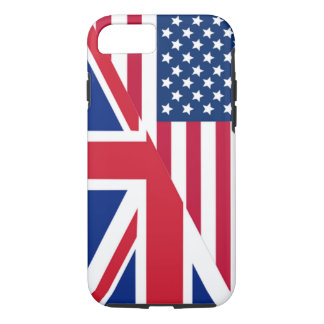 American and Union Jack Flag Tough iPhone 7 Case