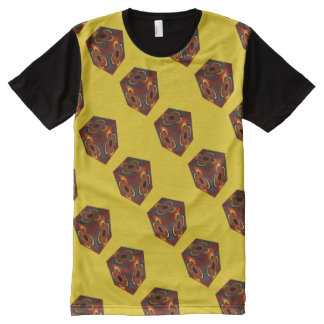 American Apparel All-Over T-Shirt with Unique Art All-Over Print T-Shirt
