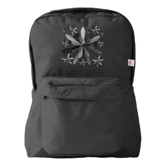American Apparel™ Backpack with Stylized Flower 1