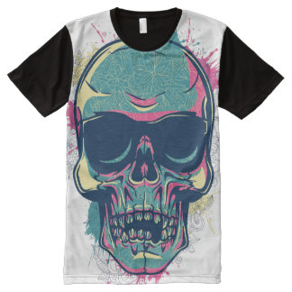 American Apparel: custom design with a skull All-Over Print T-Shirt