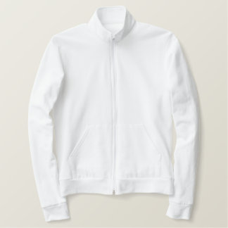 American Apparel Fleece Zip Jogger Jacket - White