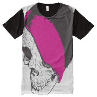 American Apparel Unisex: Punk Skull All-Over Print T-Shirt