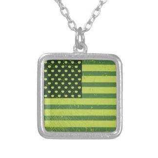 American Apple Flag Custom Necklace