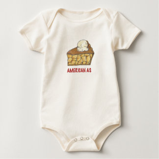 American As Apple Pie a la Mode Patriotic Dessert Baby Bodysuit