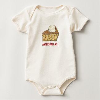 American As Apple Pie a la Mode Patriotic Dessert Baby Bodysuit