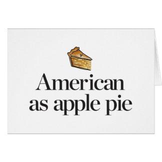 American as Apple Pie Card