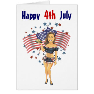 American as Apple Pie, Happy 4th July Card