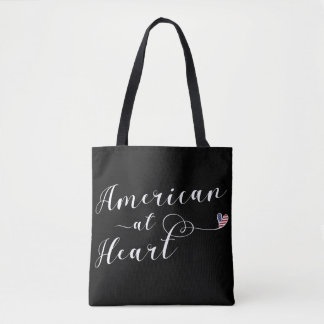 American At Heart Grocery Bag, USA Tote Bag