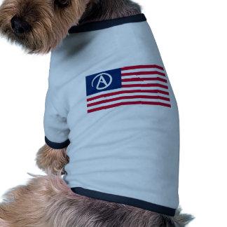 American Atheist Flag Dog Tee