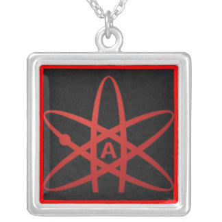 American Atheist Silver Plated Necklace