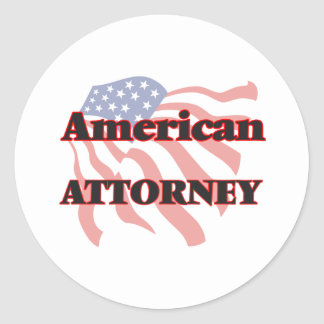 American Attorney Round Sticker