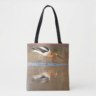 American Avocet in the ponds Tote Bag