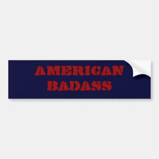 american badass bumper sticker