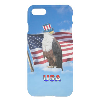 American Bald Eagle And American Flag iPhone 8/7 Case